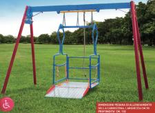 Altalena per bambini disabili in carrozzina