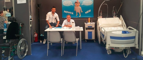 lo staff di Aquamike in fiera a Bologna