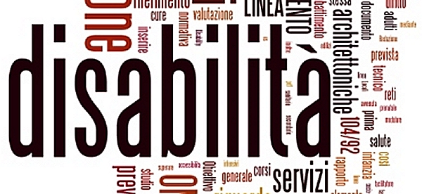 nuvola di parole correlate alla disabilita