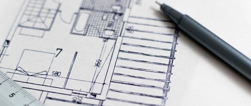 disegno tecnico della piantina di un edificio