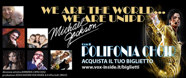 locandina del concerto We are the world... We are Unipd
