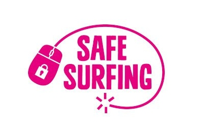 logo safe surfing con mouse