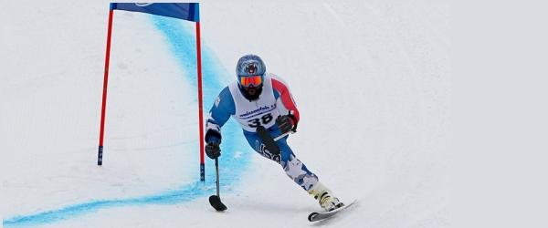 sciatore amputato ad una gamba