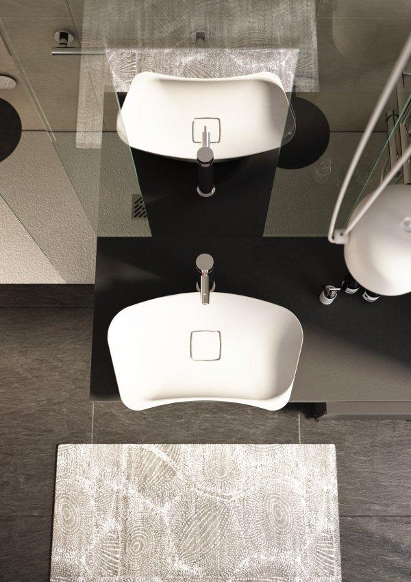 Lavabo da appoggio Goman inclinato ed ergonomico per bagno ...