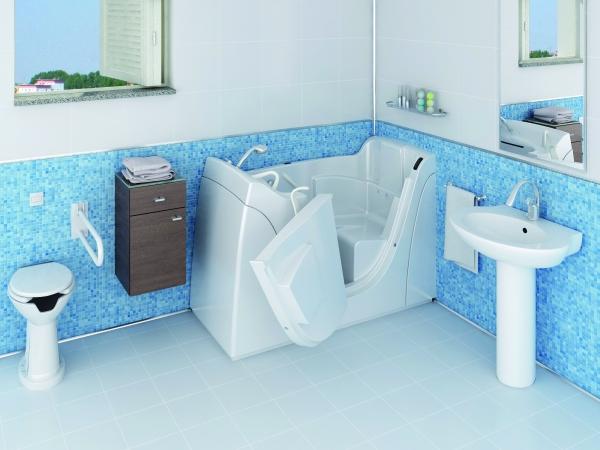 Vasca con sportello per disabili capri per un bagno accessibile ed elegante - Vasca bagno assistito ...