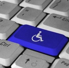 lavoro disabili: tastiera pc con simbolo handicap