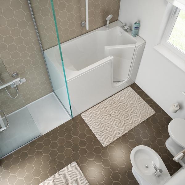 Vasche con sportello e vasca doccia con sportello anche - Aspiratore bagno senza uscita esterna ...