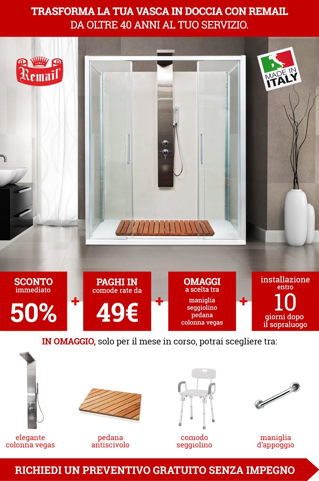 Trasformazione vasca in doccia: rinnovare il bagno con un sistema ...