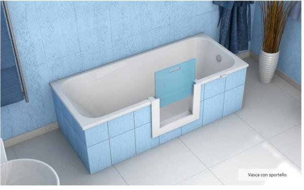 Piccola Vasca Da Bagno Nella Quale Si Sta Seduti : Vasca con apertura laterale remail per anziani e disabili disabili.com