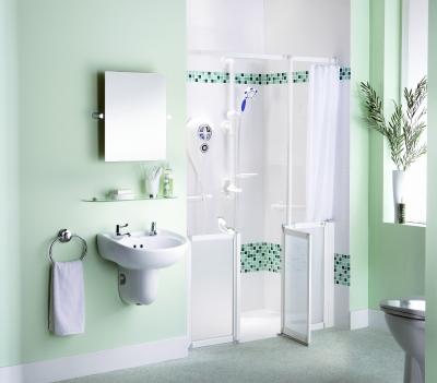 Bagno accessibile di allmobility la linea per la - Bagno disabili con doccia ...