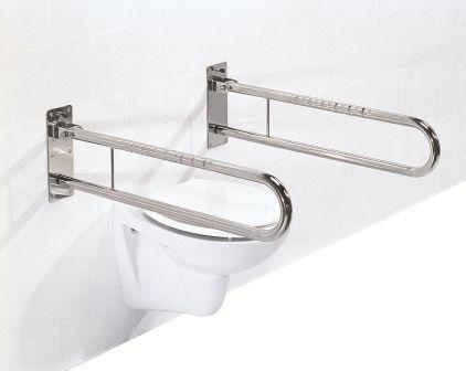 Soluzioni per il bagno in acciaio chrome look maniglioni - Accessori bagno disabili ...