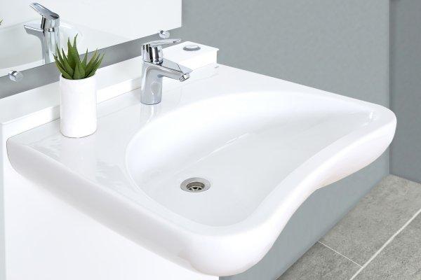 Lavabo regolabile sospeso e mobile per il bagno di anziani e