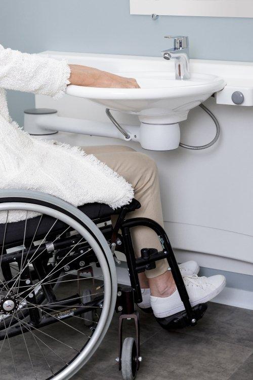 Lavabo Disabili Regolabile Sospeso E Mobile Per Il Bagno Di