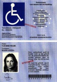 contrassegno europeo disabili