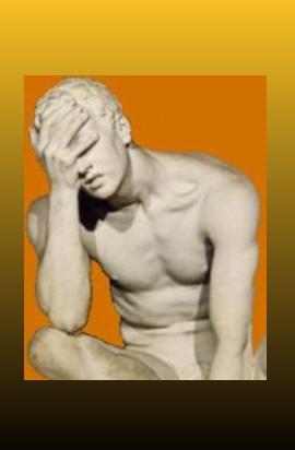 dolore: statua di uomo sofferente