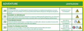 estratto dello schema dedicato alle attrazioni accessibili ai disabili cognitivi