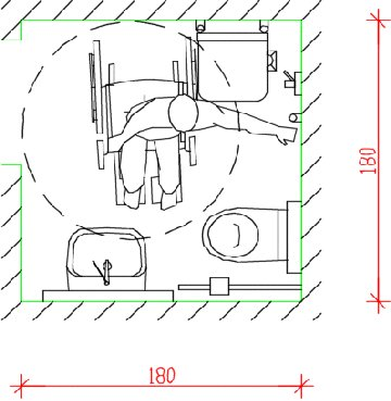 Barriere architettoniche progettare un bagno accessibile - Schemi bagni disabili ...