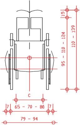 Barriere architettoniche sedia a rotelle - Misure bagno minimo ...