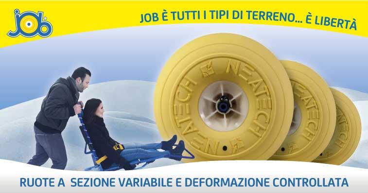 Sedia da mare job: la carrozzina da mare per disabili che va anche