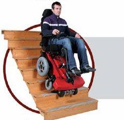 Top chair la carrozzina elettrica che sale e scende le for Joystick per sedia a rotelle