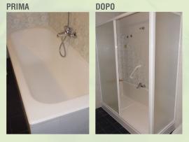 Trasforma la tua vecchia vasca in doccia per un bagno piu