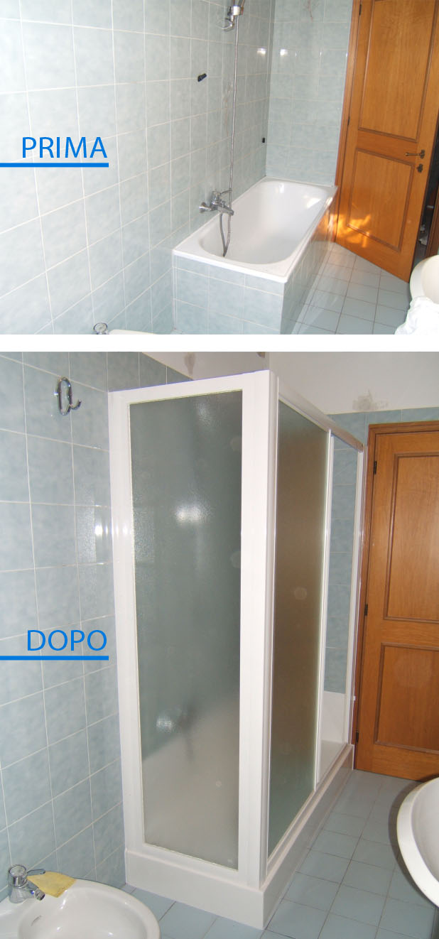 Trasformazione della vasca in doccia in una sola giornata - Posa piatto doccia prima o dopo piastrelle ...