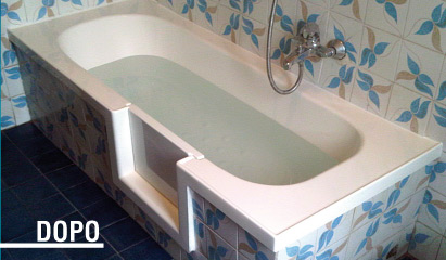 Vasca Da Bagno Usata Prezzi : Vasca con sportello vascapoint la comodita senza il minimo