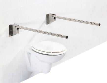 Soluzioni per il bagno in acciaio chrome look maniglioni belli e