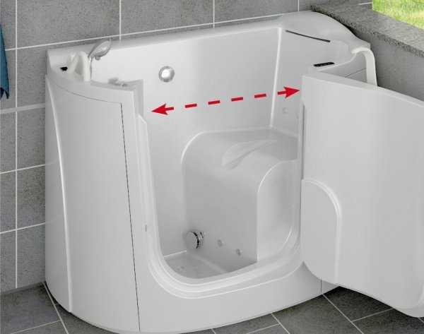 Tonga la vasca con sportello per disabili e anziani piccola e compatta - Vasca da bagno per disabili agevolazioni ...