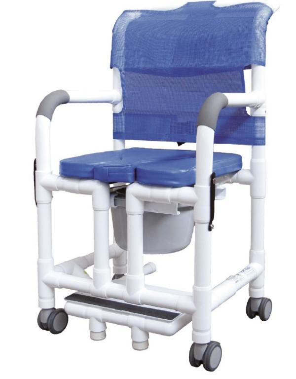 Sedia comoda e doccia per anziani e disabili altezza regolabile e apertura per igiene - Disabili.com
