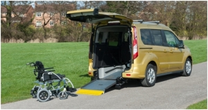 Ford Tourneo Connect flexi ramp allestimento per trasporto disabili in carrozzina by Olmedo