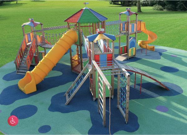 IGiostre e parco giochi inclusivi e accessibili ai bambini disabili