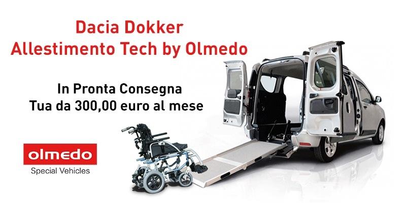 IDacia Dokker veicolo per trasporto disabili by Olmedo: convenienza e qualita' in unico prodotto