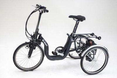ITriciclo pieghevole a motore per disabili e anziani a pedalata assistita