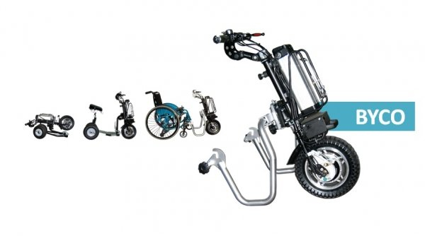 IBycoDrive: da scooter pieghevole a unita' trainante per carrozzina in pochi gesti
