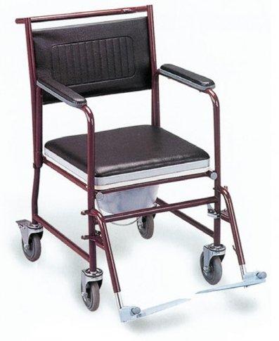 ISconto su carrozzina e sedia wc comoda pieghevole per anziani e disabili