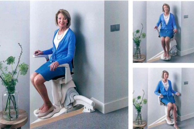 IMontascale a poltroncina extrasottile per spazi ridotti per anziani e disabili