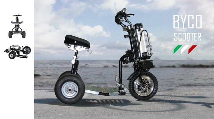 IByco: lo scooter scomponibile e richiudibile per i disabili sempre in viaggio!